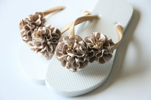 cc8610c36cef63 Bridesmaid Flip Flops BRIDAL Flip Flops WEDDING Flip