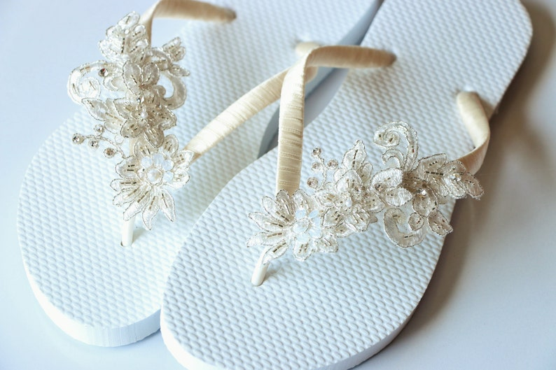 e8f9544b8 BRIDAL Flip Flops Bridal sandalsWEDDING Flip