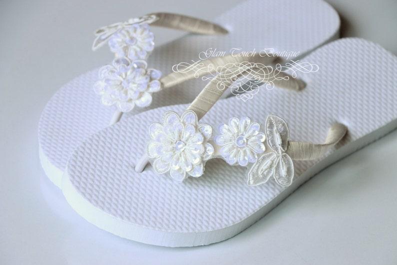 6239afdd9 BRIDAL Flip Flops Bridal sandalsWEDDING Flip