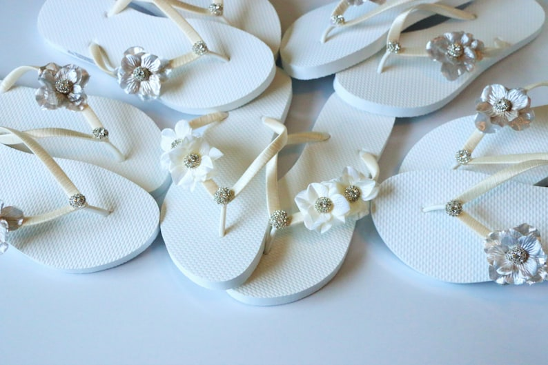 e06f483221127f BRIDAL Flip Flops WEDDING Flip Flops Bridesmaid Flip Flops