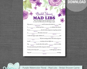 bridal shower mad libs game mad libs printable bridal shower game flowers printable instant download rustic country 007a