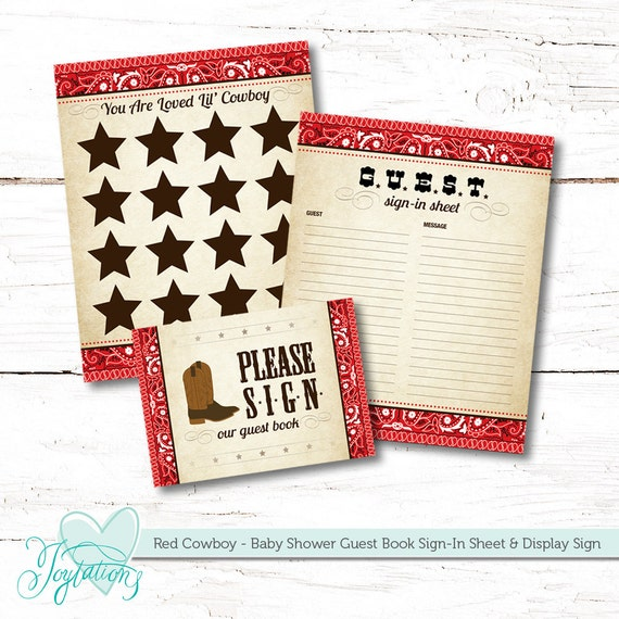 guest book and display sign sign in sheet cowboy baby etsy