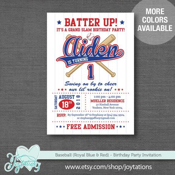Baseball Birthday Invitation Printable Boy Sports Invite