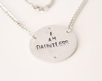 I AM DAUNTLESS Necklace Tris Prior Four Tobias Eaton Amity Abnegation Erudite Candor Faction Jewelry Divergent