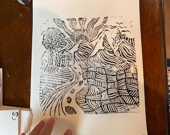 Large stamped print