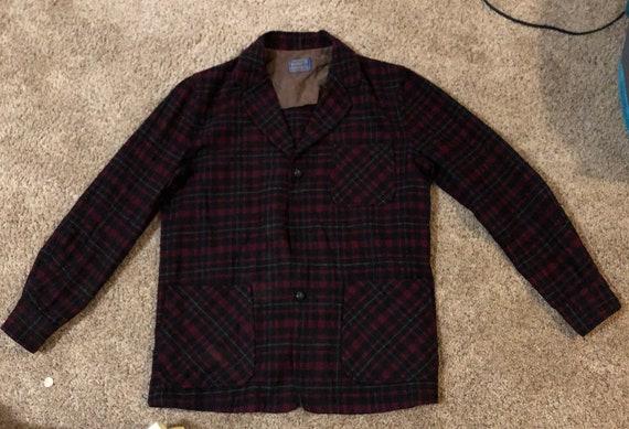 Pendleton Vintage 1960s Wool Shirt Jacket Blazer M