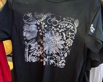 Hand stamped tshirt