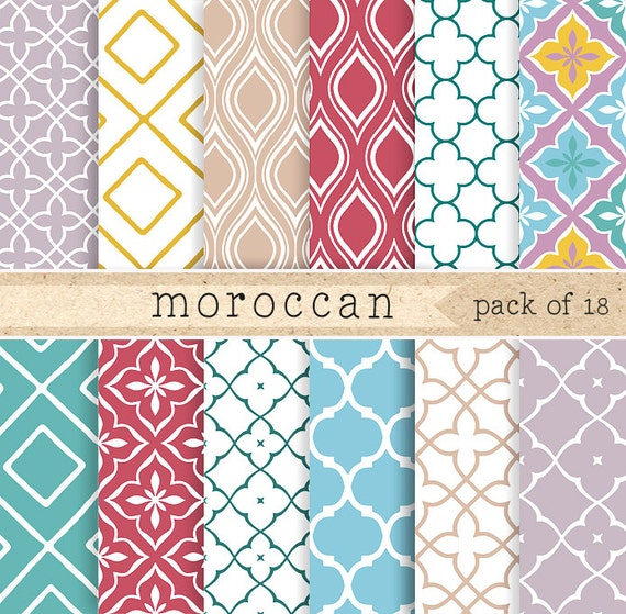 Moroccan Digital Paper Traditional Middle Eastern Pattern In Etsy New Middle Eastern Patterns