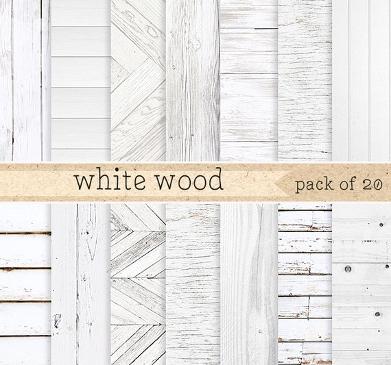 White Wood Digital Paper Painted Rustic Texture And