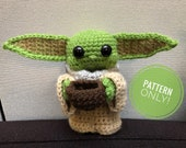 The Child (Baby Yoda) Amigurumi Pattern CROCHET PATTERN ONLY From The Mandalorian on Disney Star Wars doll