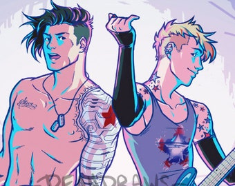 Punk rock Bucky and Steve (PRINT)
