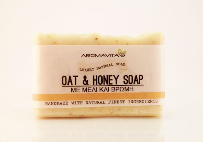 Honey-Oatmeal Soap, All Natural, Scabies Relief Soap, Sweet Orange Ess Oil