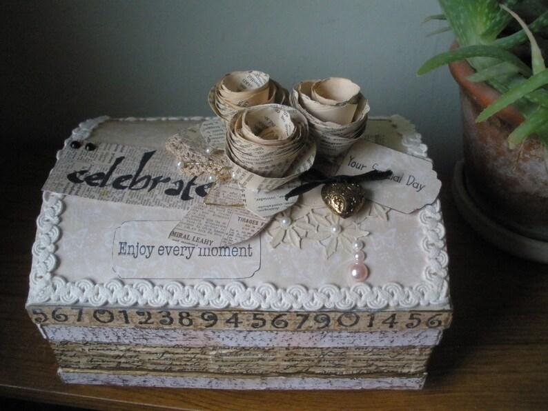 Wedding Keepsake Box Wedding Memory Box Wedding Card Box image 0