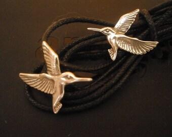 Norman Grant Silver Earrings / Silver Hummingbird Earrings / Vintage 925 Silver Earrings