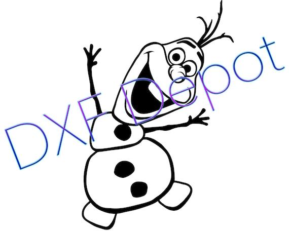 Olaf Frozen Dxf Vector Art Clip Art Png Ai Jpeg Etsy