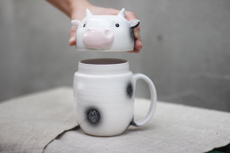 600ml Cute Cat Ceramics Coffee Mug With Lid Large Capacity Animal Mugs creative Drinkware Coffee Tea Cups Novelty Gifts milk cup