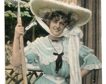 1900s Glamorous Edwardian Woman Postcard Antique Vintage Victorian Miss Marie Studholme
