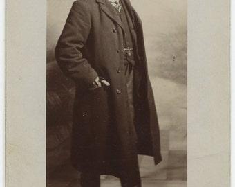 1900s Handsome Man Flat Cap Real Photo Postcard Antique RPPC Vintage Victorian Edwardian Fashion Camberwell