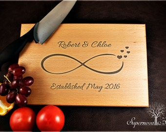 Infinity - Personalised Wooden Chopping / Cutting Board Engraved