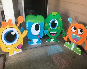 Monster Party- Monster Birthday- halloween Decor- Monster Cutouts- Monster Party Prop- Monster Decorations- halloween party- Monster Supply