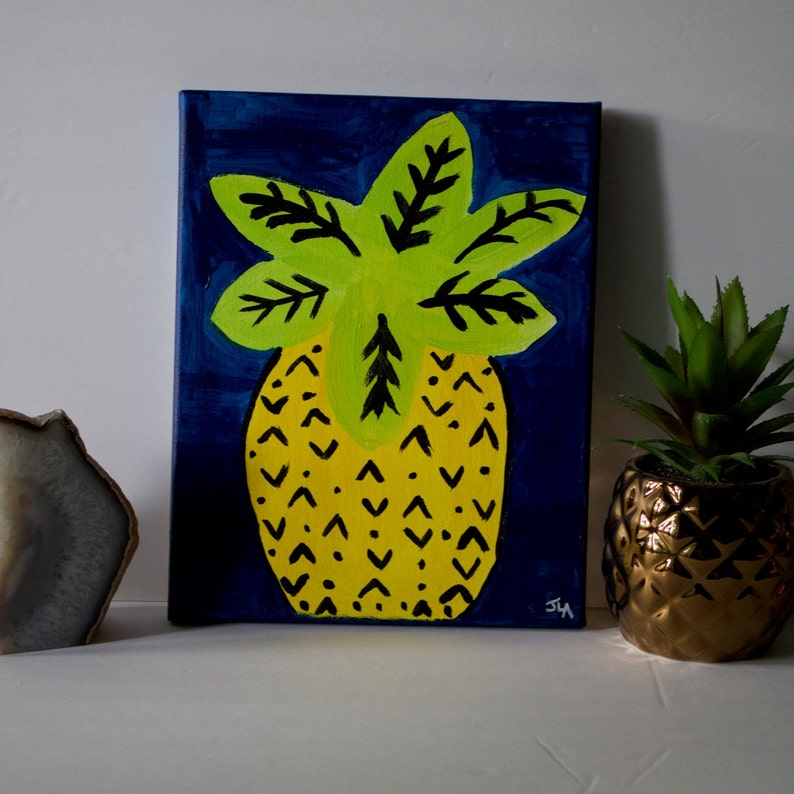 Vacation Home Decor 8 X 10 Pineapple image 0