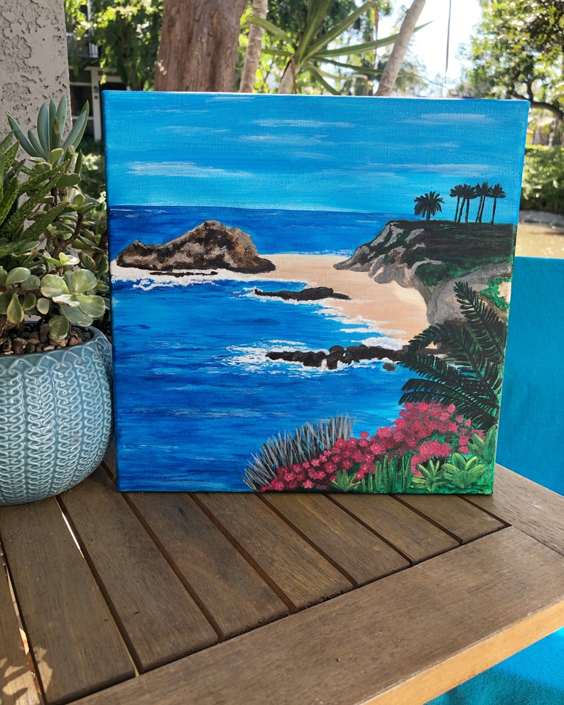 Montage Laguna Beach Painting on Canvas 10x10 inches image 0
