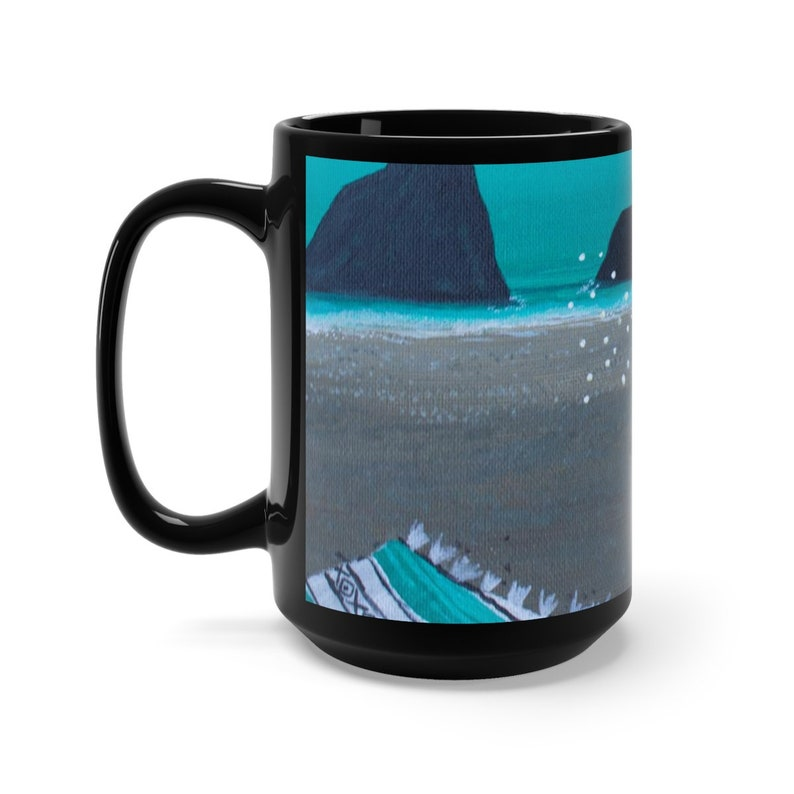 Black Mug 15oz image 0