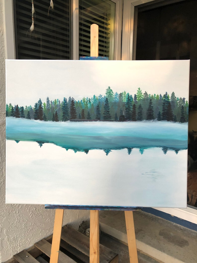 Silent Forest 24 X 30 Inch Acrylic Painting on Stretched image 0