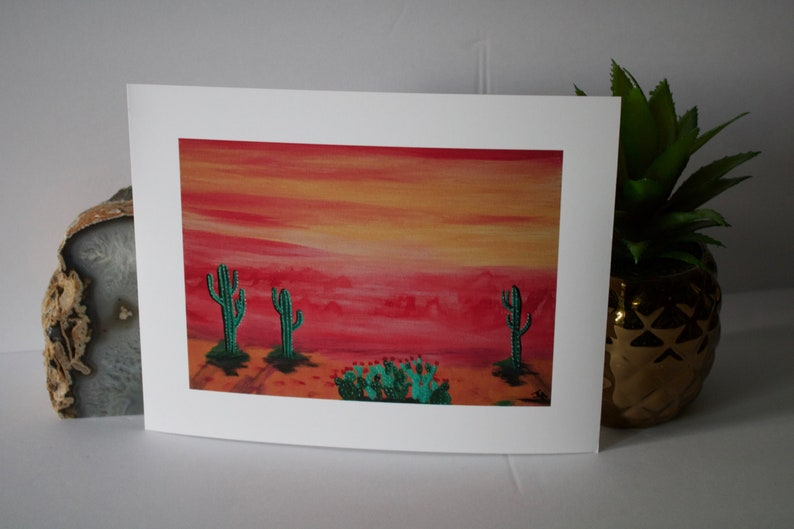 Modern Desert Art Print Pink Haze  Wanderlust image 0