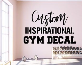 Gym Motivational Wall Sticker Decal Workout motivational Wall Art Look Mirror