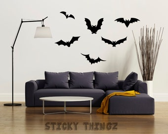 Halloween Decal, Bat Decals, Halloween Party, Bat wall decal,  Halloween Decorations, Halloween Wall Decal, Bats, Halloween Supplies