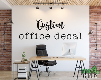 Custom Office Decal - Office Wall Decal - Business Logo Decal - Mission Statement Decal - Motivational Wall Decal - Home Office Decal