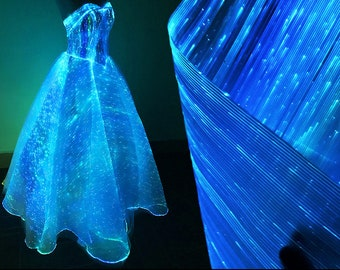 Starry Luminous Optical Fiber Textile LEDs Fabric Technology Age Material