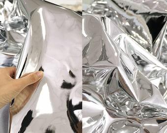 Silver Suede HD Mirror Special Textured Fabric