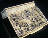 Silver Gilt Snuff Box, Vintage, Decorative, Trinket, Pedro Batista of Porto, Portuguese, Quality Box, REF 424Z