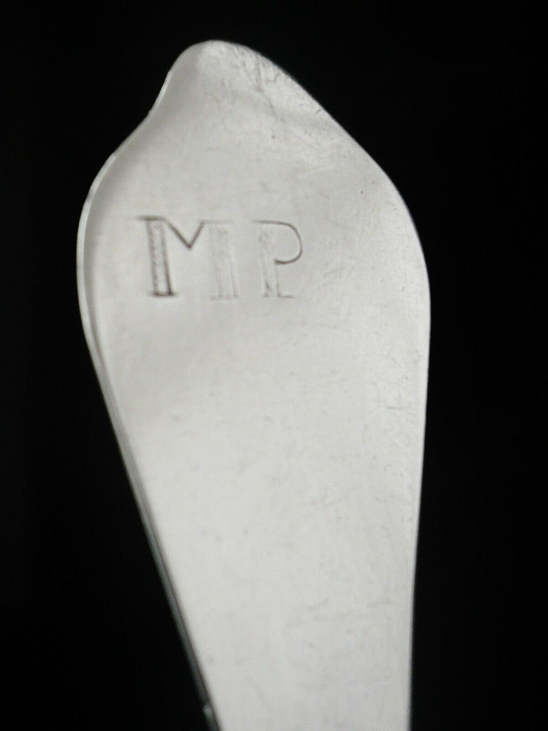 Silver Dog Nose Spoon, Sterling, Antique, Anglais, Coutellerie, Vaisselle, Samuel Lee, Hallmarked Londres 1702, REF:493T