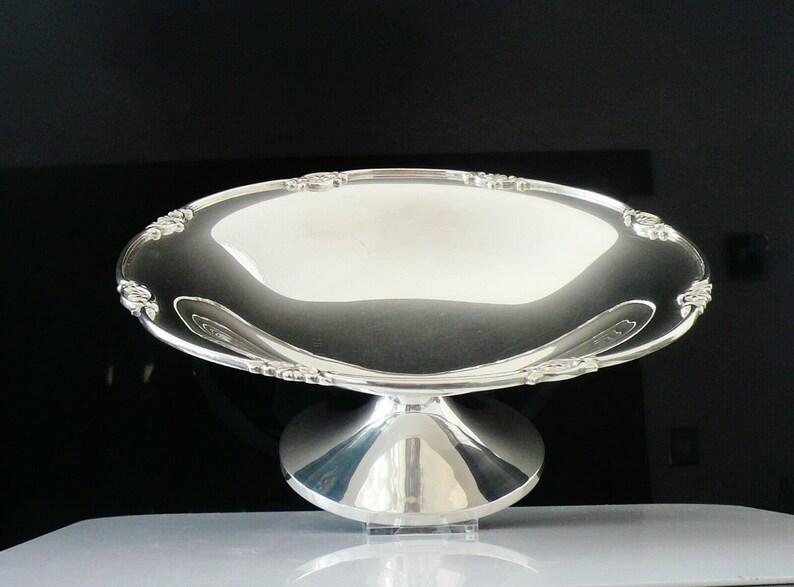 Silver Pedesce Bowl, Comport, Sterling, Anglais, Vaisselle, vintage, Elkington & Co, Hallmarked Birmingham 1930, REF:219E