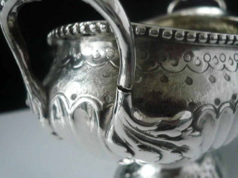 Sucrier argent, Sterling, antique, anglais, vaisselle, 2 manipulé, poinçonnés Londres 1777, Thomas Evans ou Thomas Ellis, REF: 193Y