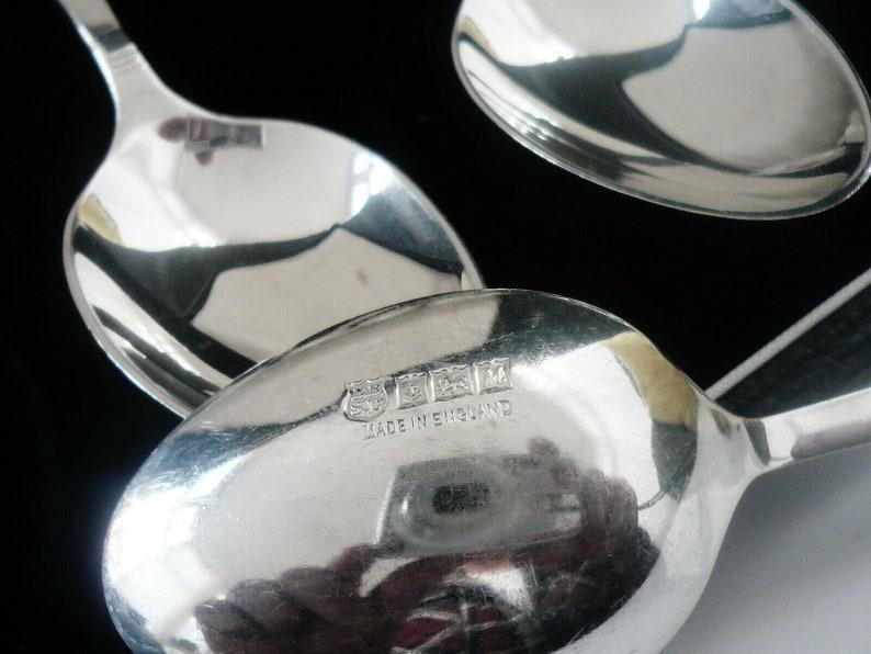 12 cuillères à café argent, Sterling, casse, anglais, couverts, vaisselle, cuillères, poinçonné Birmingham 1961, Barker, Silver Brothers Ltd, réf: 450J