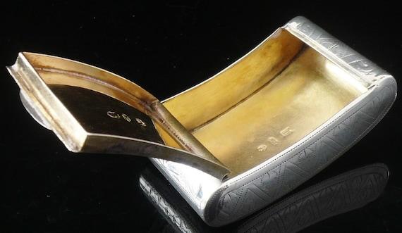 Engels Antiek Zilver.Zilveren Snuff Vak Sterling Engels Antieke Tabak Rokers Etsy