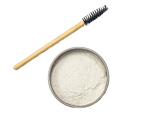 Organic Zero Waste Lash Lengthener, Setting Powder, Eye Primer, Vegan Makeup, Plastic Free Makeup, Cruelty Free, Eco Friendly Gift for Her