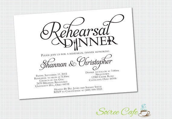 printed rehearsal dinner invitation rehearsal invites etsy
