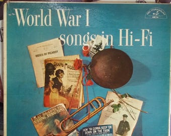 The Four Sergeants, World War I Songs in Hi-Fi, Vintage Record Album, Vinyl LP, Classical Music from World War I Era, Patriotic Songs