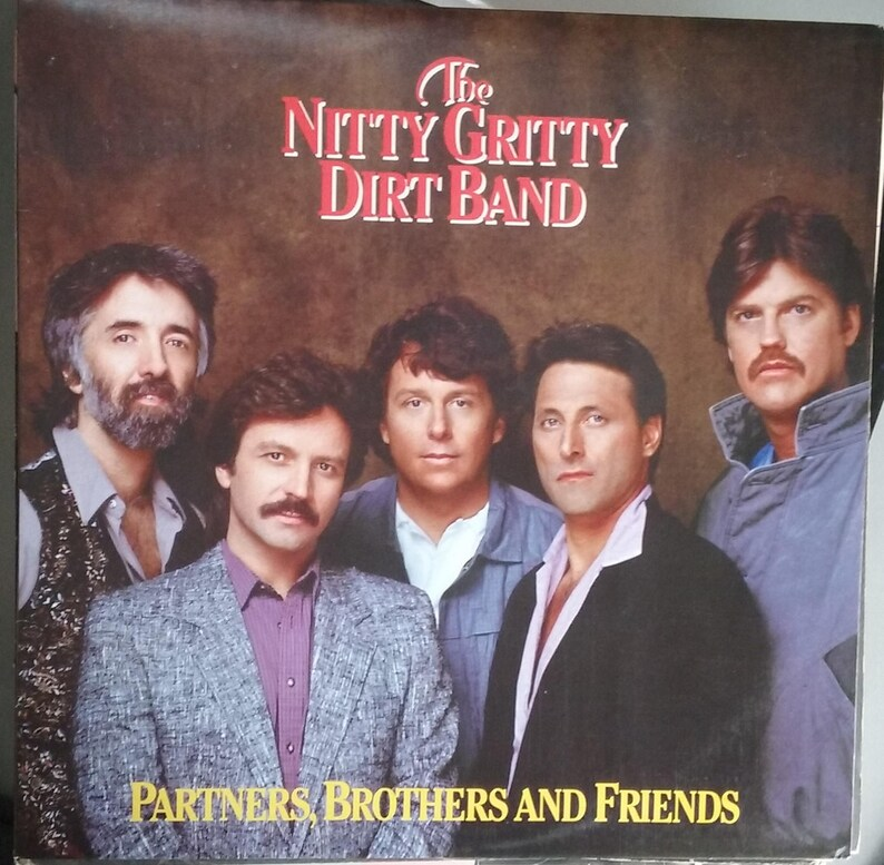 The Nitty Gritty Dirt Band, Partners Brothers and Friends, Vintage Record  Album, Vinyl LP, Classic Country Pop Rock Music, American Band