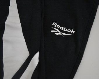 01c9321b4492f2 REEBOK - Vintage Reebok Leggings with Large Logo Print - Work Out Pant