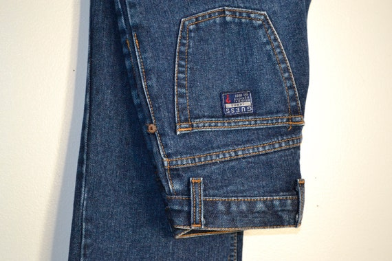 GUESS - Vintage High Waisted Guess Blue Jeans