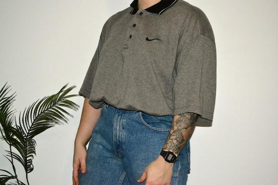 NIKE - Vintage Nike Collared Knit T Shirt / Vintag