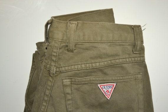 GUESS - Vintage High Waisted Khaki Green Guess Jea