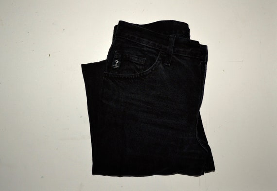 GUESS - Vintage High Waisted Black Guess Jeans