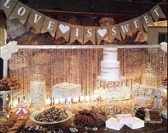 Rustic wedding decor etsy rustic wedding decor country wedding outdoor wedding wedding reception dessert table junglespirit Images